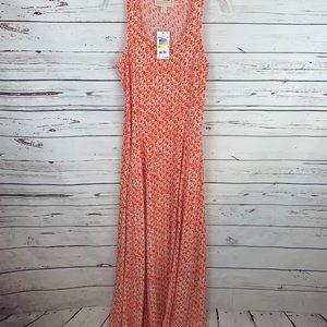 New Michael Kors Summer Maxi Dress Orange Medium